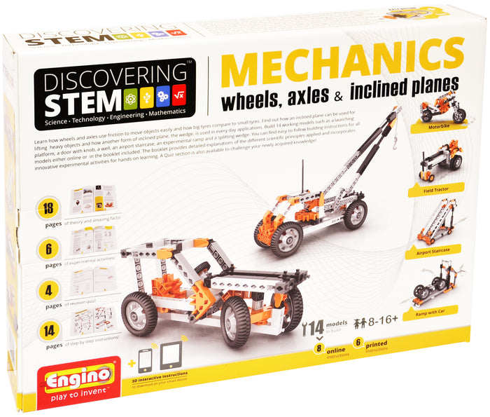 Engino - Discovering STEM - STEM Mechanics - Wheels, Axles & Inclined Planes - ENGSTEM02 | STEM Toy Store | STEMToyStore.com