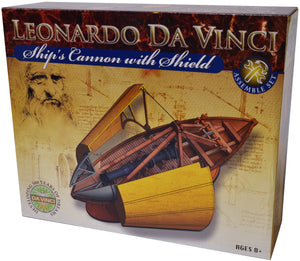 Edu-Toys - Leonardo Da Vinci Kit - Ship Cannon with Shield - EDU61023 | STEM Toy Store | STEMToyStore.com