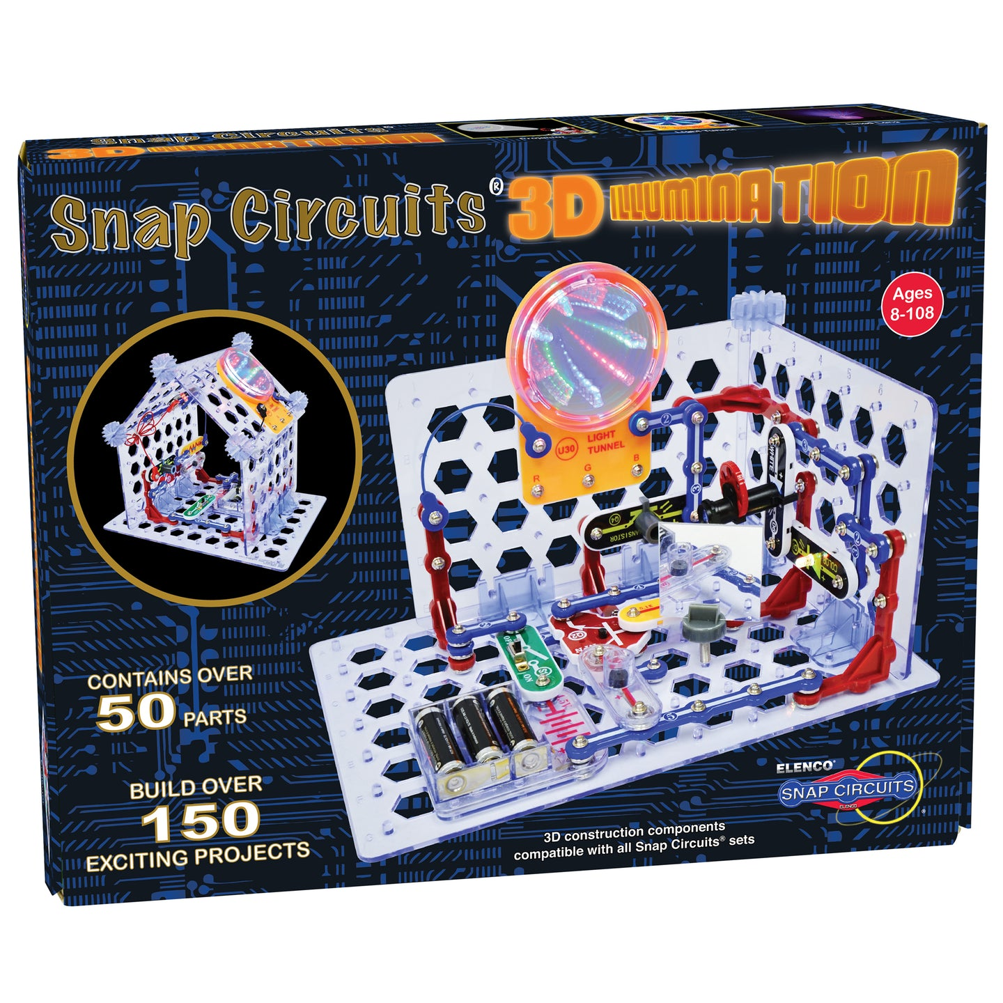 ELENCO - Snap Circuits - 3D Illumination - 150+ STEM Projects - SC3Di | STEM Toy Store | STEMToyStore.com
