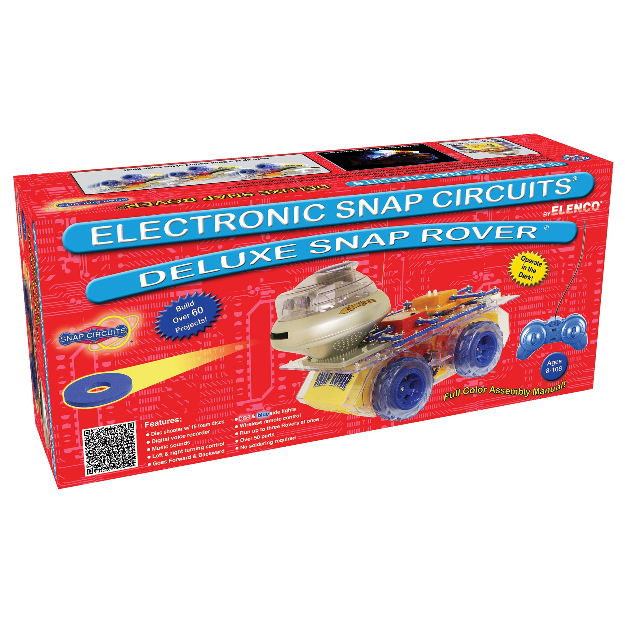 Elenco Snap Circuits Deluxe Rover Scrov50 Stem Toy Store Circuit Manual 60 Projects