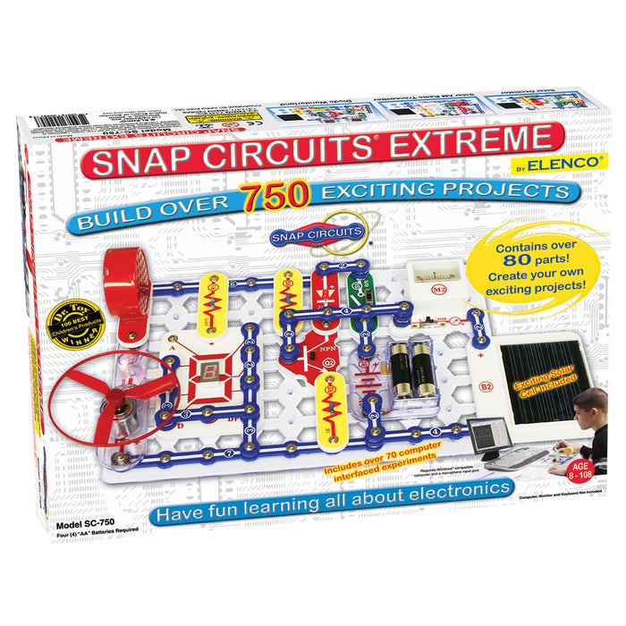 ELENCO - Snap Circuits Extreme - 750 Experiments - 750+ STEM Projects - SC750 | STEM Toy Store | STEMToyStore.com