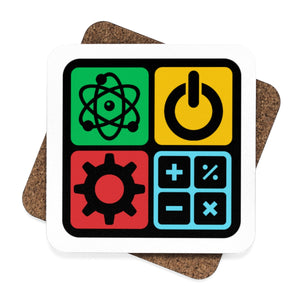 STEM Coaster Set - 4pcs | STEM Toy Store | STEMToyStore.com
