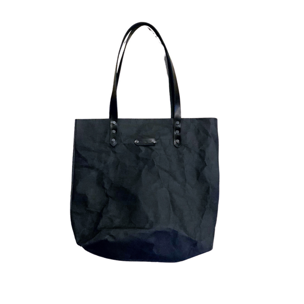 Eco Paper Tote - Black/White/Warm Grey/Tan
