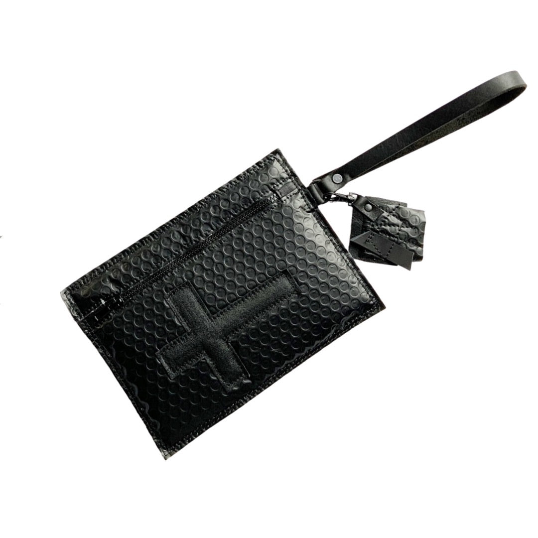 MOFO Cross Bubble Wristlet Clutch
