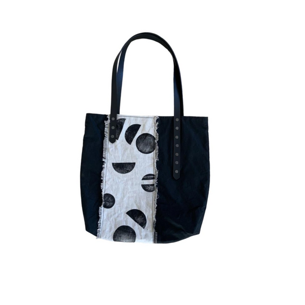 Organic Oilcloth Statement Hand Printed Tote