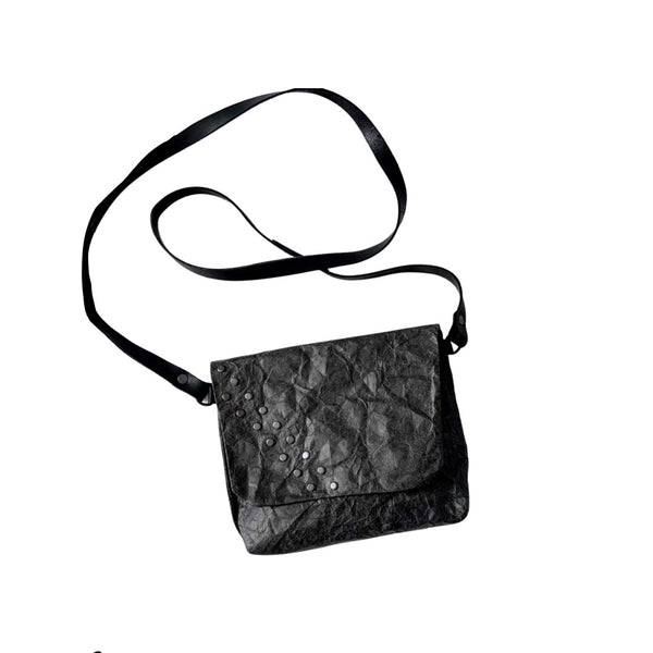 Eco Paper  Evie Shoulder Bag - Black