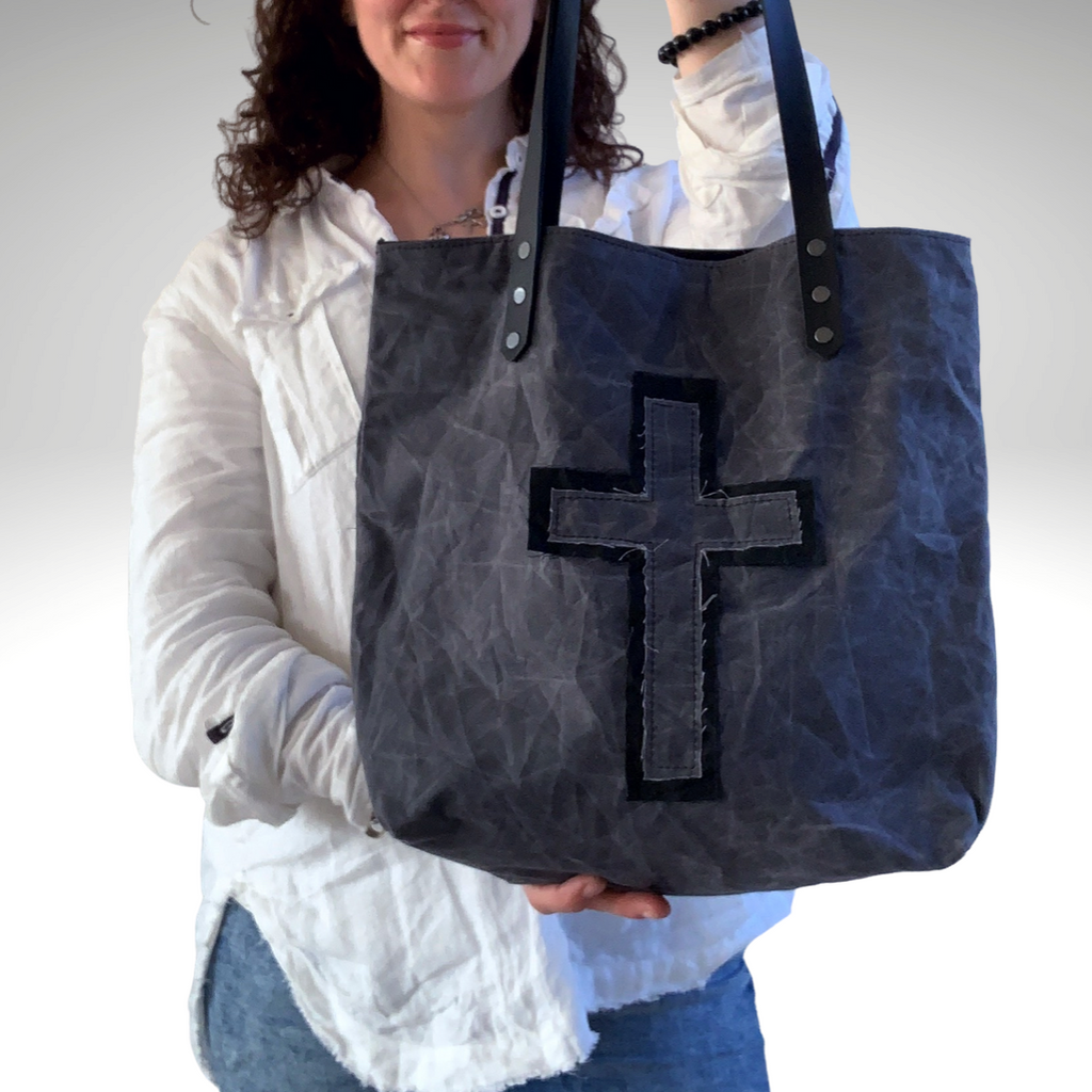 Organic Oilcloth Cross Series Tote