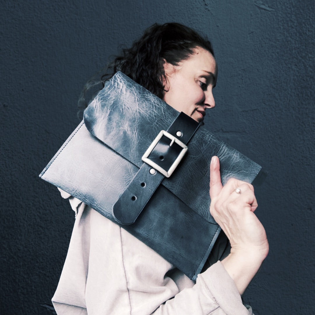 Handcrafted Oversized Leather Clutch