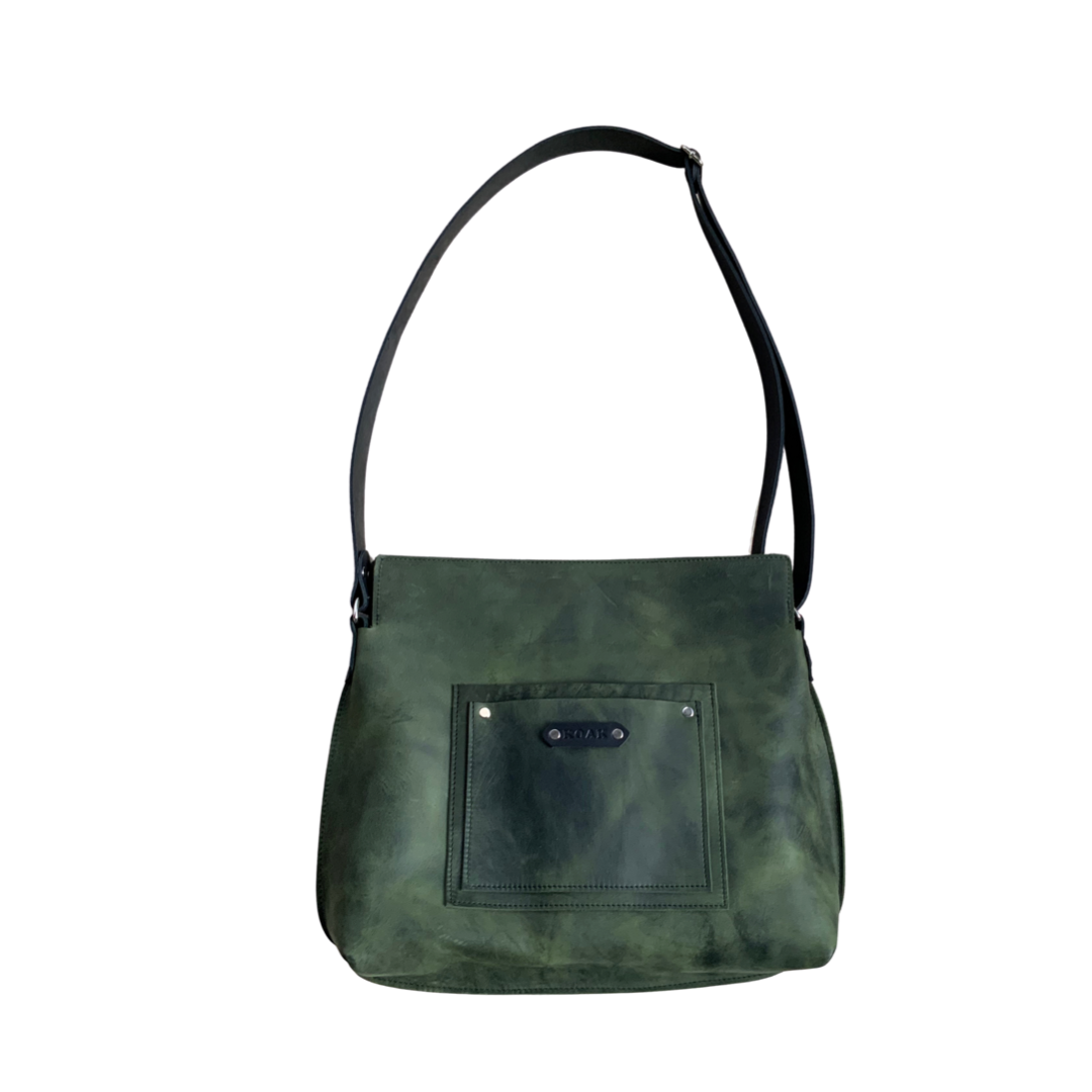 The 'Von Rock'  Leather Messenger Tote