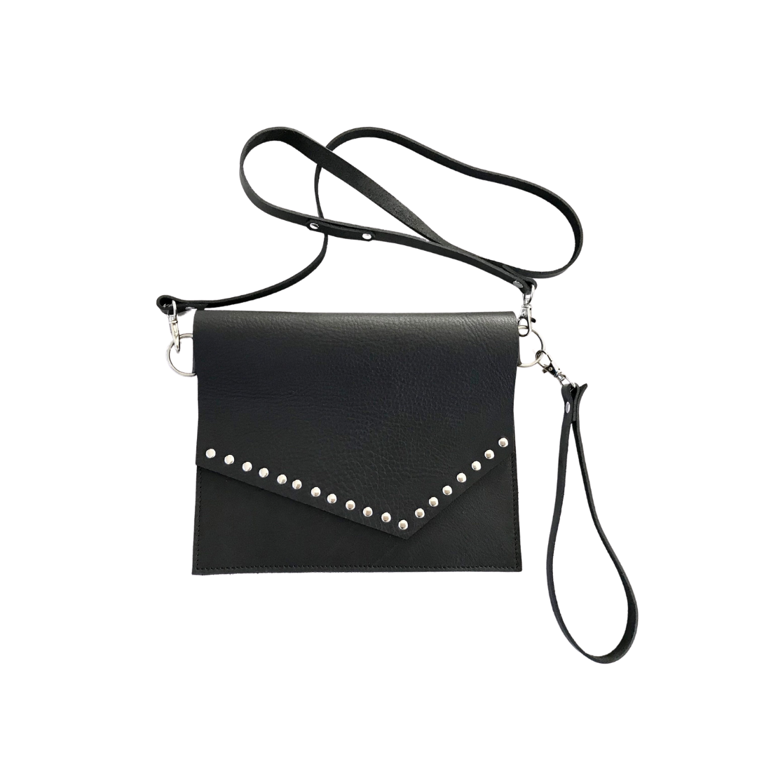 Studded Wristlet Clutch & Shoulder Bag Combo