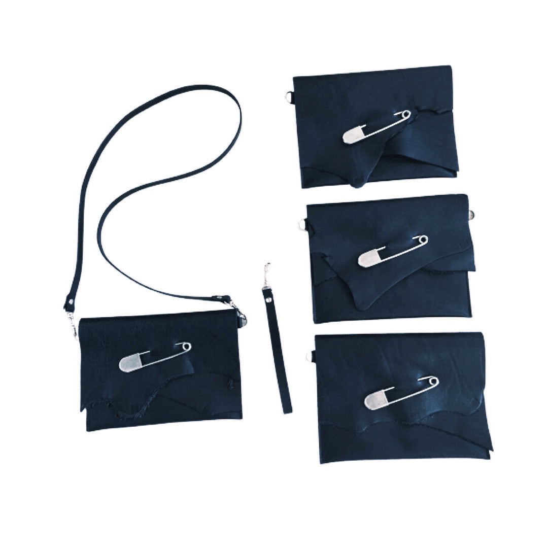 Safety Pin Convertible Clutch Bag