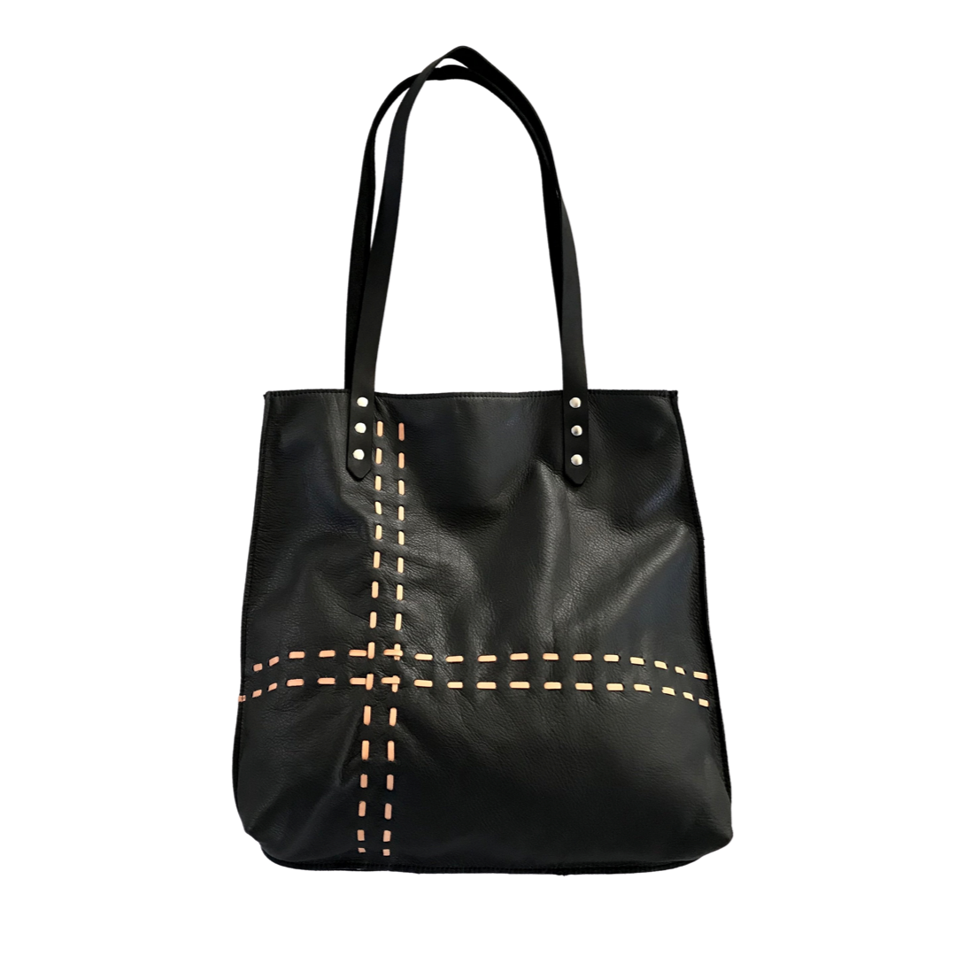Leather Laced Tote