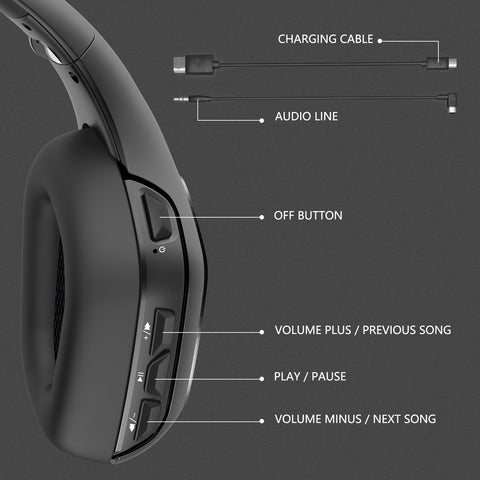 Onikuma B1 Bluetooth Gaming Headset - Black