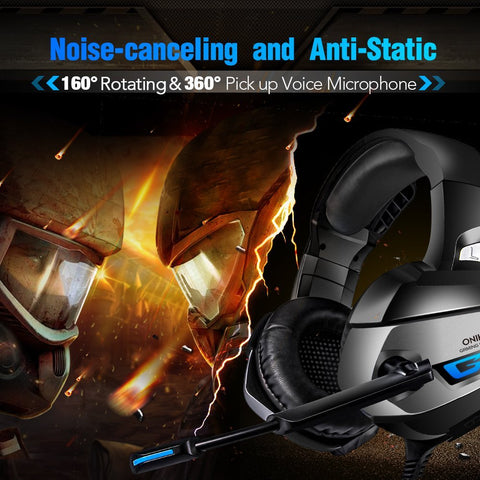 Onikuma K5 Gaming Headset - Black