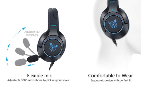 Onikuma K9 Affordable Gaming Headset - Blue