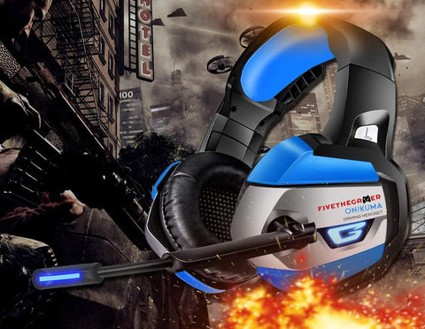 Onikuma K5 Gaming Headset - Blue