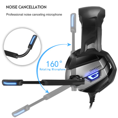 Onikuma K5 Gaming Headset - Noise Canceling Microphone
