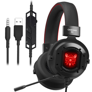 Onikuma K3 Metal Gaming headset connections