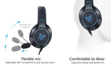 Load image into Gallery viewer, Onikuma K9 Blue Gaming Headset For Xbox One, PS4 and PC