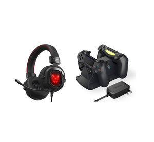 Playstation 4 Gamer Kit - K3 Gaming Headset & PS4 Controller Charging Station