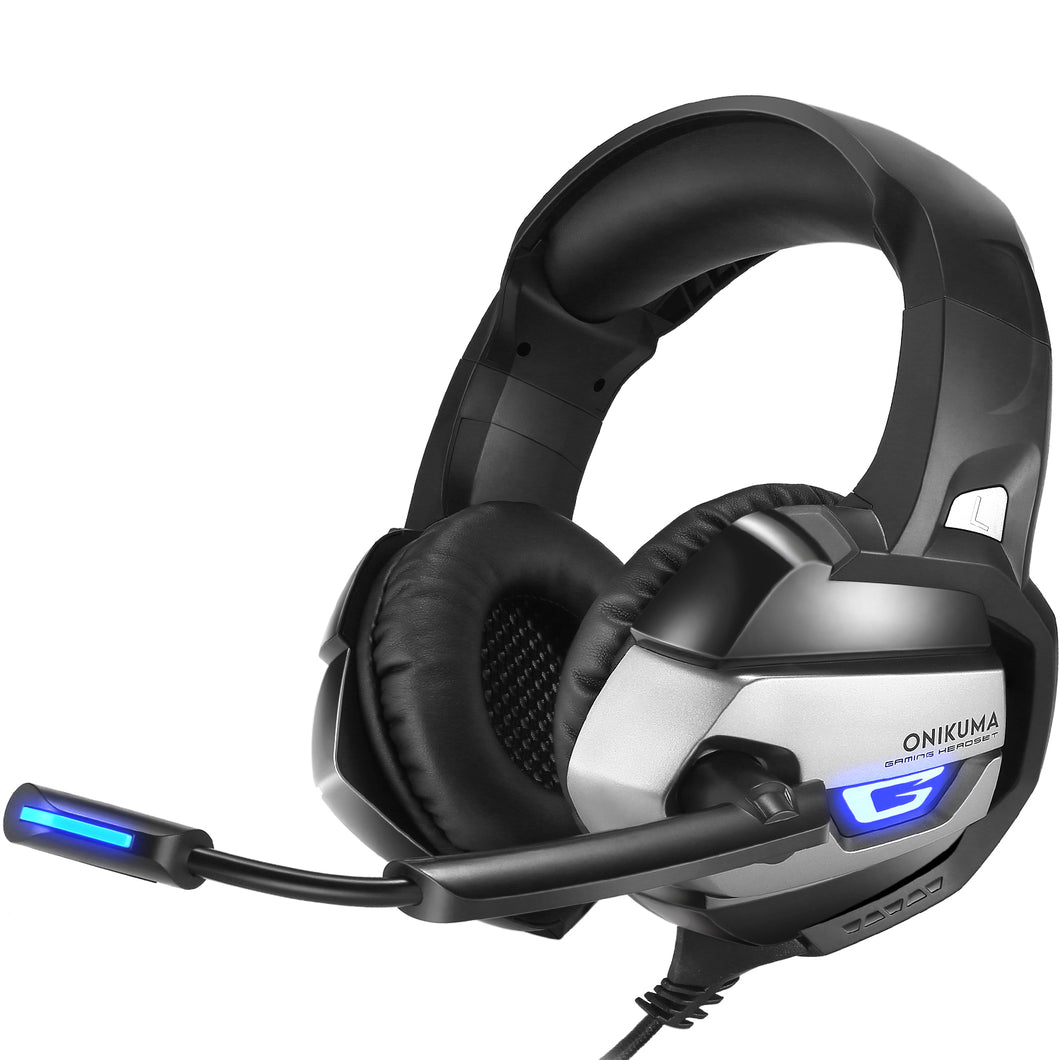 Onikuma K5 Black Gaming Headset For Xbox One, PS4 and PC