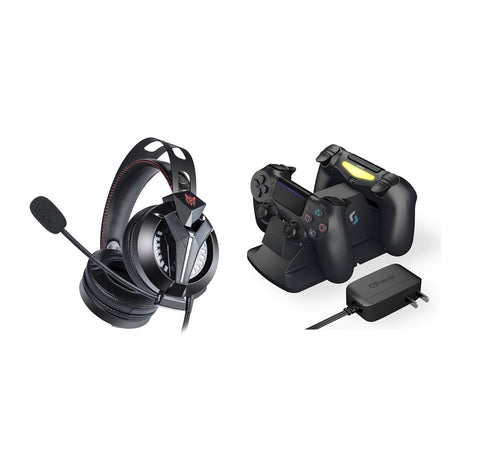 Playstation 4 Gamer Kit - M180 Pro Gaming Headset & PS4 Controller Charging Station