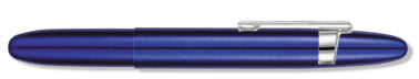 Blueberry Blue Bullet Space Pen w/ Clip