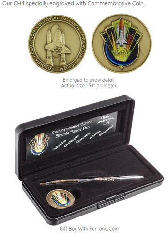 Commemorative Edition Shuttle Space Pen & Coin Set