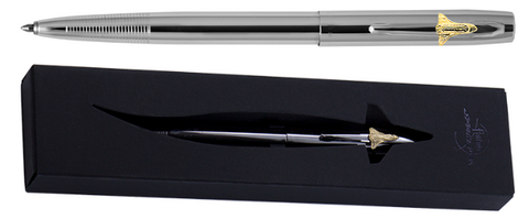 CHROME PLATED CAP-O-MATIC SPACE PEN WITH SHUTTLE EMBLEM