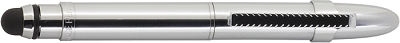 Chrome Bullet Grip Space Pen with Clip and Stylus