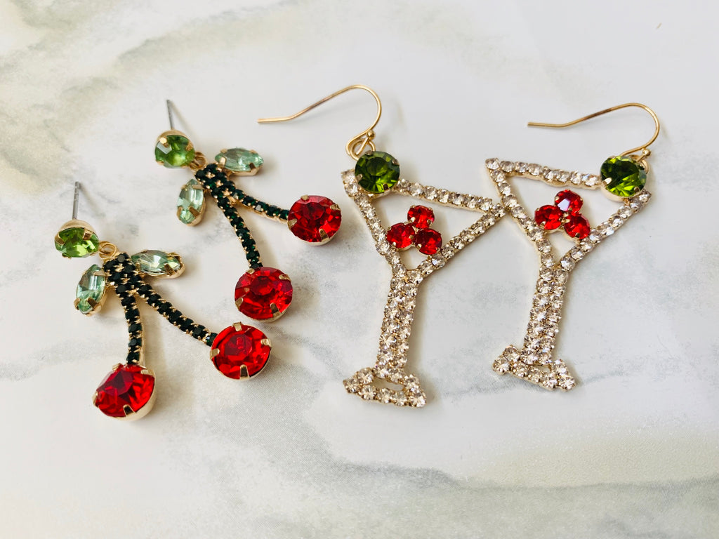 Cherry Martini Earrings