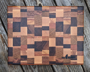 """The Calamity"" End Grain Cutting Board"