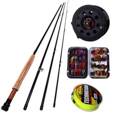 Load image into Gallery viewer, Sougayialng 8.86FT #5/6 Fly Fishing Rod Set 2.7M Fly Rod and Fly Reel Combo with Fishing Lure Line Box Set Fishing Rod Tackle