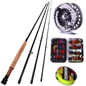 Sougayialng 8.86FT #5/6 Fly Fishing Rod Set 2.7M Fly Rod and Fly Reel Combo with Fishing Lure Line Box Set Fishing Rod Tackle