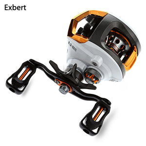 Exbert 12 + 1 Bearings Waterproof Left / Right Hand Baitcasting Fishing Reel High Speed Fishing Reel with Magnetic Brake System