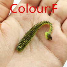 Load image into Gallery viewer, 10pcs/lot 5.5cm 0.8g Artificial Soft Bait Worm Swimbaits Fishing Lure 8 Color silicone T Tail Lure Fly Fishing Bait FA-398