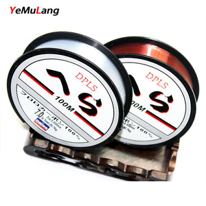 YeMuLang Brand High Quality 100M Nylon Fishing Line Fly Line Monofilament Fly Nylon Line Not Fluorocarbon Line For Fishing