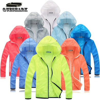Men Women Quick Dry Sun-Protective Cycling Jacket Anti-UV Outdoor Sports Clothing Camping Hiking Skin Jacket Fishing Coat