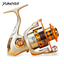 Load image into Gallery viewer, Yumoshi EF1000-7000 12BB 5.2:1 Metal Spinning Fishing Reel Fly Wheel For Fresh/Salt Water Sea Fishing Spinning Reel Carp Fishing