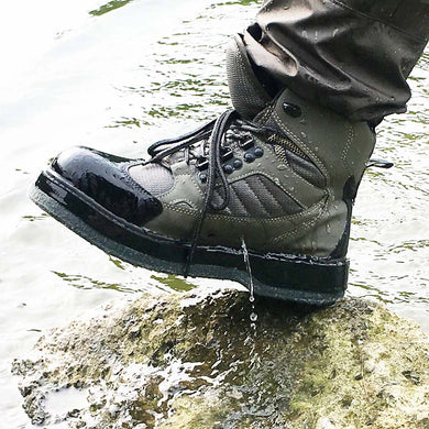 Fly Fishing Shoes Aqua Sneakers Breathable Rock Sport Wading Waders Felt Sole Boots Quick-drying No-slip For Fish Pants Clothing