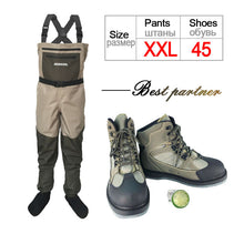 Load image into Gallery viewer, Fly Fishing Shoes & Pants Aqua Sneakers Clothing Set Breathable Rock Sports Wading Waders Felt Sole Boots Quick-drying No-slip