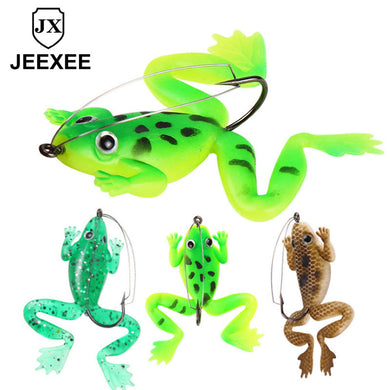 6CM 5.2g 3D Frog Snakehead Fishing Lure Wobblers Pencil Fishing Minnow Soft Worm Fish Lures Artificial Bait Bass Hooks Tackle