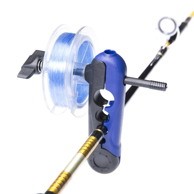 Portable Universal Fishing Line Spooler Adjustable for Various Sizes Rod Bobbin Reel Winder Board Spool Line Wrapper Mini