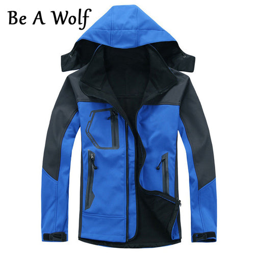 Be A Wolf Softshell Hiking Jackets Men Clothing Waterproof Outdoor Sports Fishing Clothing Camping Skiing Jacket Windbreaker 201