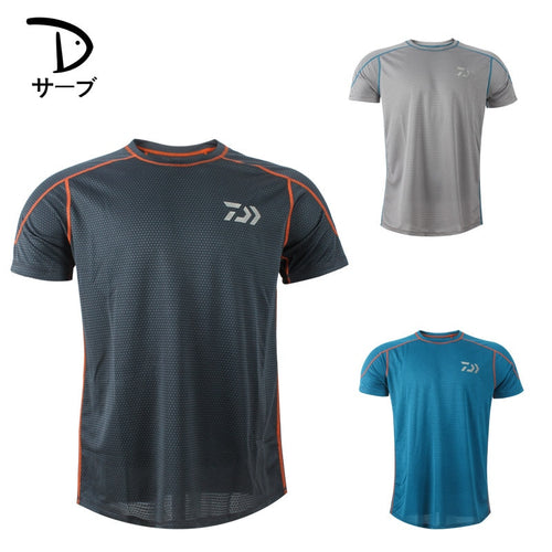 Men Ice Short Sleeve Fishing Clothing Summer Fishing T-shirt Breathable Quick Dry Fly Fishing Clothes Fishing Tackle