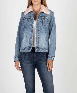 Emma Fur Collar Boyfriend Jacket-New-Kut from the Kloth