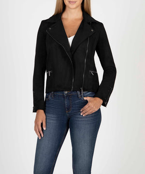 Eveline Vegan Suede Moto Jacket-New-Kut from the Kloth