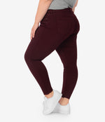 Donna High Rise Ankle Skinny, Plus (Deep Wine) Hover Image