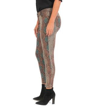 Donna Ankle Skinny (Snake Print)-New-Kut from the Kloth