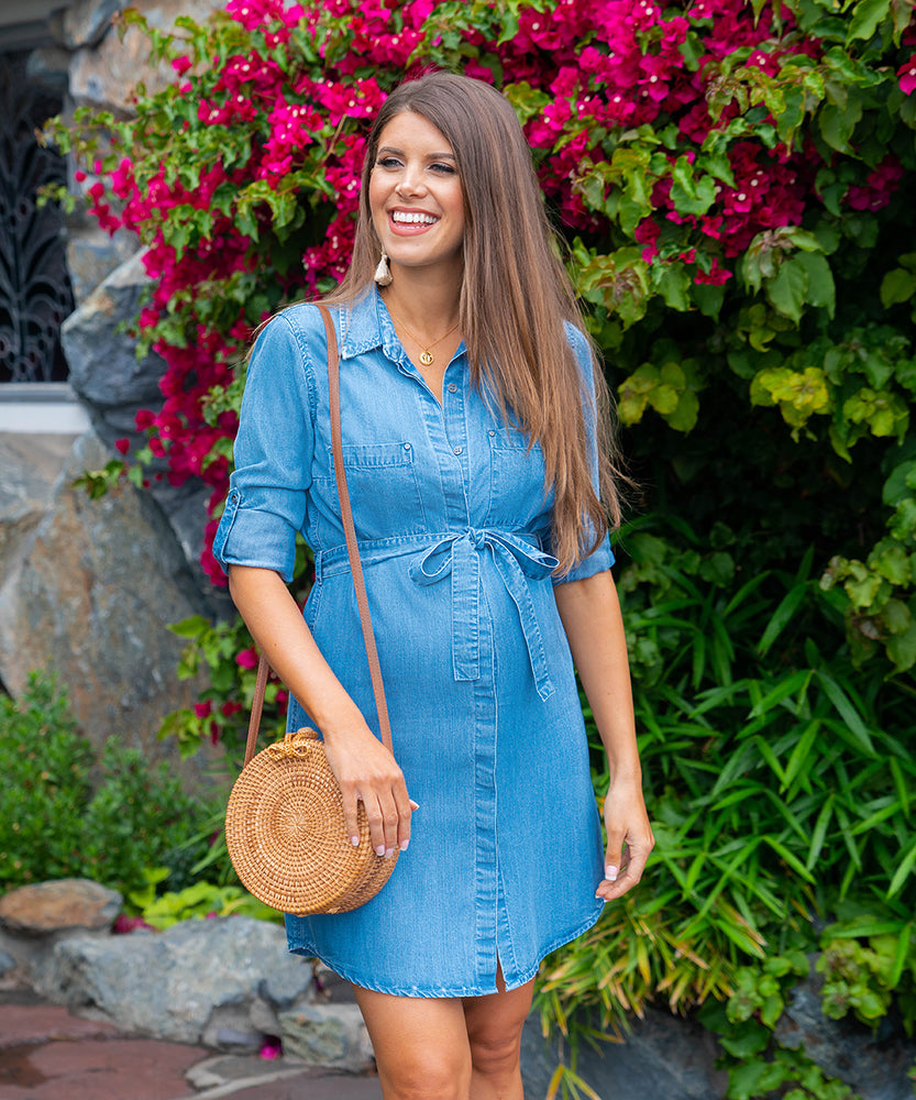 Shelby Chambray Belted Dress